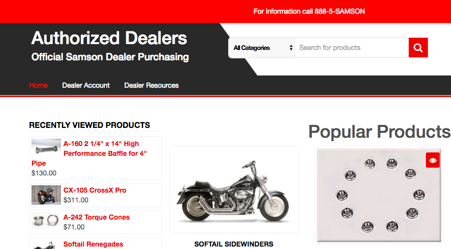 Samson Launches Authorized Dealer E-Commerce Website